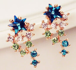 South Korea Imported A Meteor Shower Earrings Fashion Exquisite Studs Earrings Fashion Jewelry Accessory Earrings Wholesale