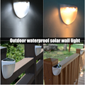 Солнечный наружный забор водонепроницаемый настенный декоративный светильник для садовой лужайки DAG-ship