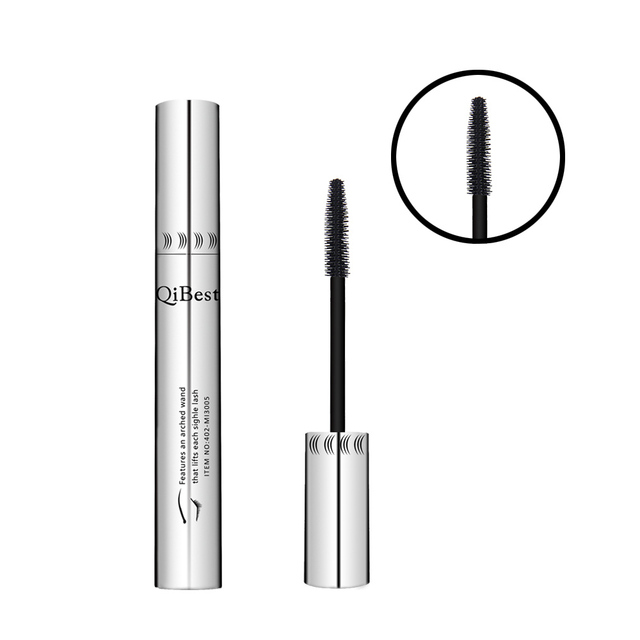 Black mascara 4d thick and long eye mascara waterproof silver tube silicone brush mascara professional cosmetics 3