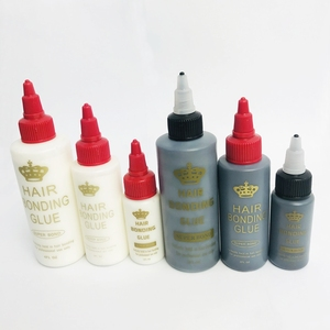 Pegamento de unión de trama de cabello blanco/negro de 60ml para cinta de pegamento para el cabello para un soporte perfecto accesorio adhesivo para el cabello 2Floz