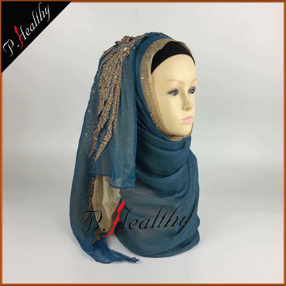 Свадебный хиджаб платок головной убор одежда модная свадебная шаль шарфы Муслин, можно выбрать Цвета, phw001 - Цвет: color2