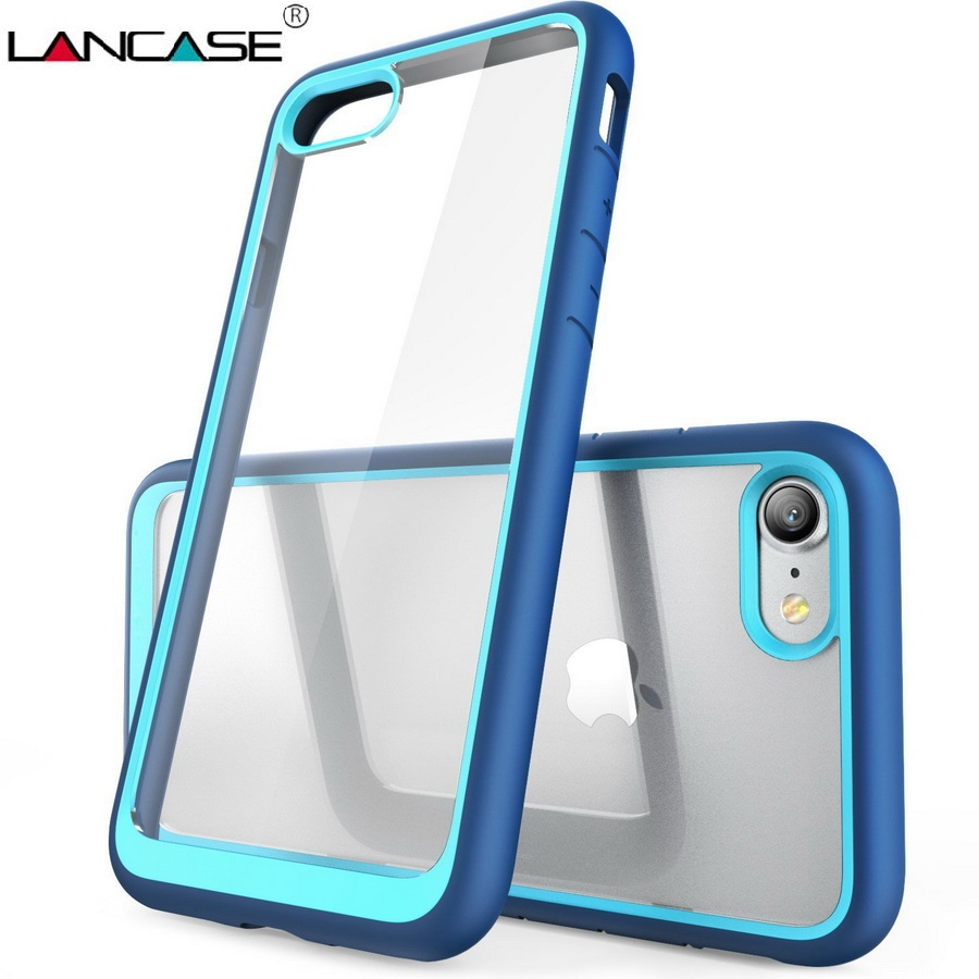 LANCASE for iPhone 7 Cover Rugged Shockproof Coque For iPhone 7 7 Plus Case 8 Plus Cover Plastic TPU Slim Armor Shell Protective