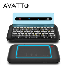 [AVATTO] NEW Big Full Touchpad Russian English mini Keyboard with 2.4GHz Wireless Backlit kaypad for PC Smart TV,Android Box