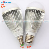 12V 7W LED BULB Ultra Bright Light Led Lamp Aluminium Cold White Warm White E27 Base