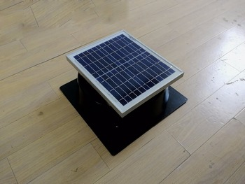Ventilador de escape Solar para ático, ventilador para montar en el techo, 660cfm para invernadero móvil, invernadero, casa de granja pequeña, casa de mascotas, 5 años de garantía