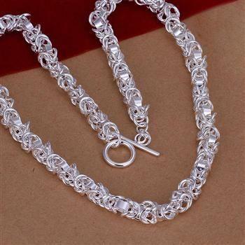 Serpientes-cadena 925 Sterling plata señora-collar sin remolque de 42 cm 1,4 mm de n