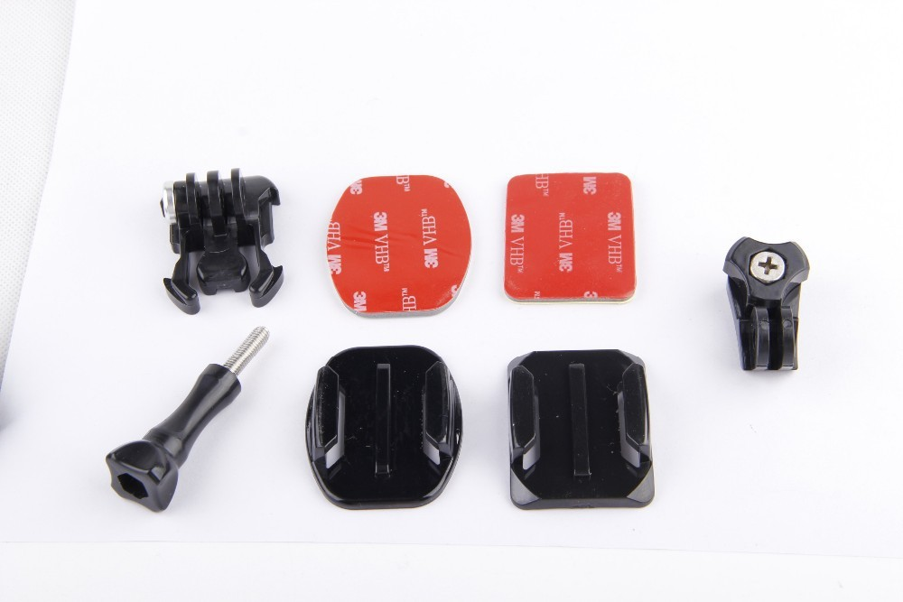 lat Curved Adhesive Tripod Mount Buckle for xiaomi yi S&ny action cam AS15 AS30 AS100V Rollei Basic Accessories