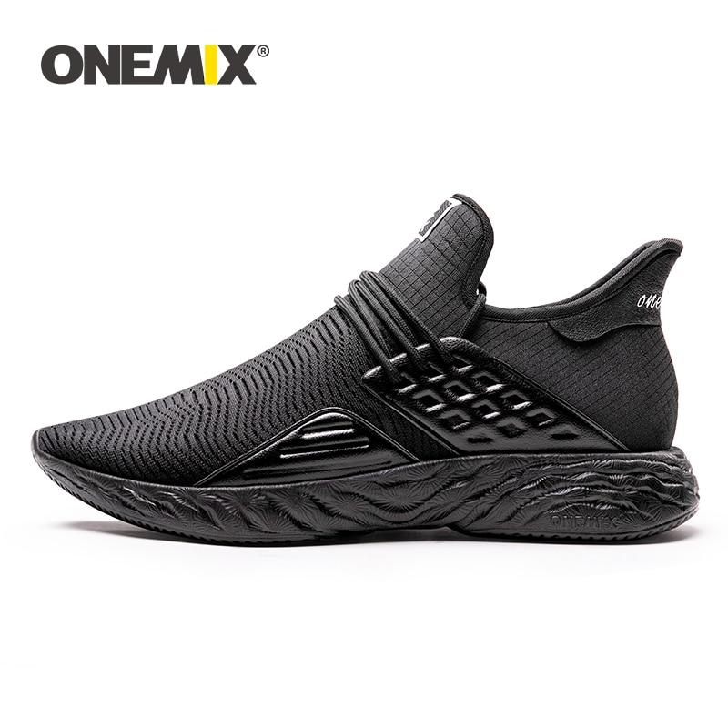 ONEMIX 100 Original Sneakers Men Running Shoes Black Big Size 2019 New Simple Lightweight Male Outdoor