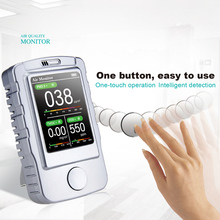 Multi-function Laser Smart Gas Detector Air Quality Monitor Co2  Calibration Portable Hand-held Air Detector Monitor 5 In 1 CO2 air smart a1 e air air quality detector testing air humidity pm2 5 smart home automation air purifier 4pcs