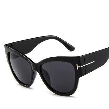 Luxury Brand Designer Women Sunglasses Oversize Acetate Cat eye Sun glasses Sexy Shades 1
