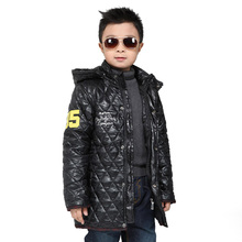 XIAOYOUYU Size 110-150 Big Boy Outdoor Winter Jacket Good Quality Kid Coat Hooded Design Children Fashion Casual Thick Outerwear