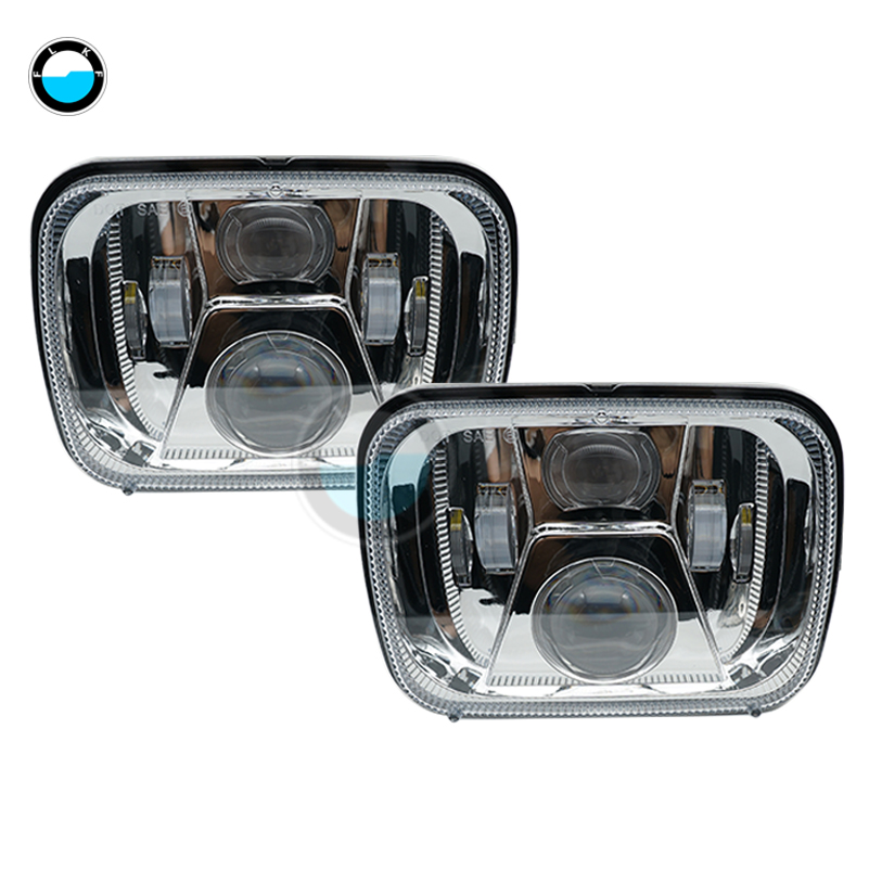 5x77x6 inch led truck lights for Jeep wrangler YJ Cherokee XJ H6054 H5054 H6054LL 69822  ...