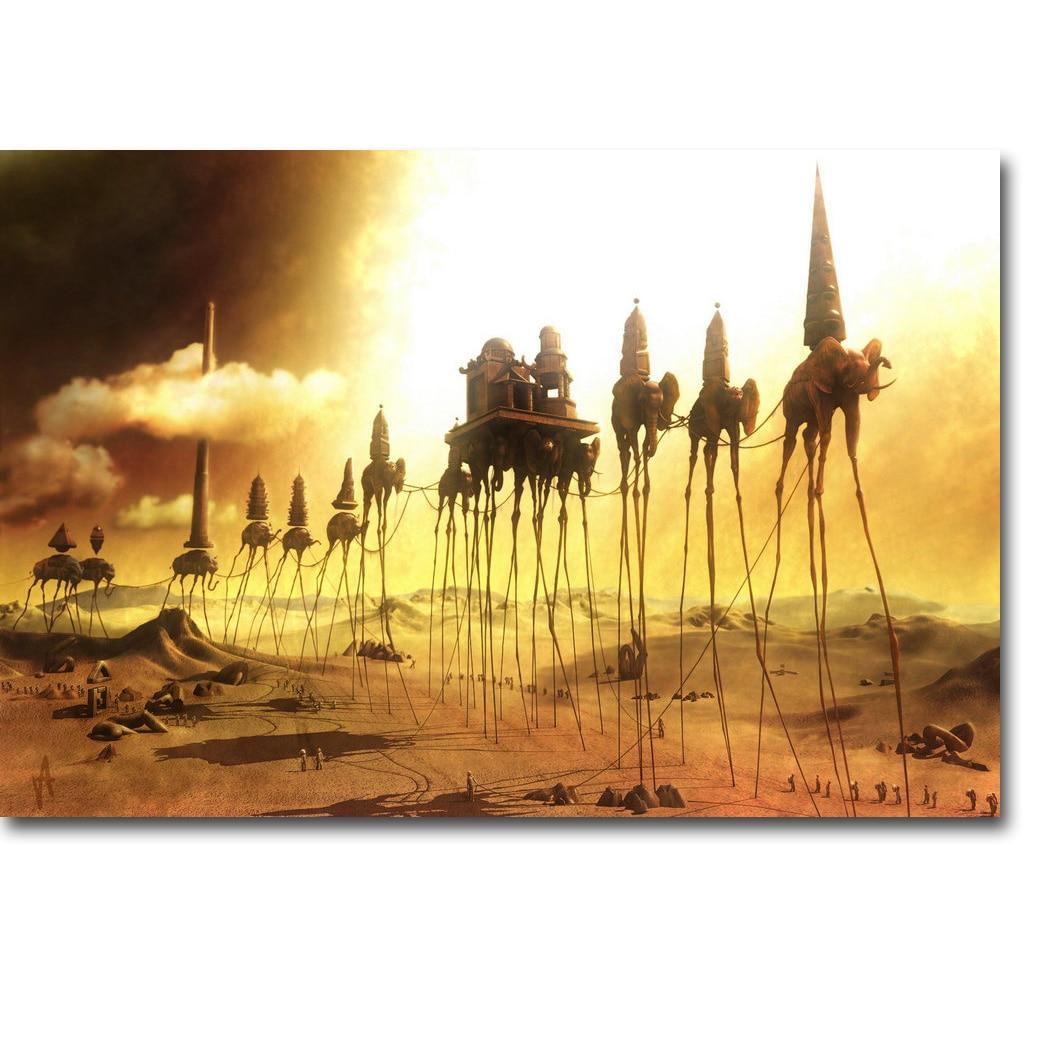 Caravan - Salvador Dali Art Silk Julistevedos 13x20 24x36 tuumaa - Kodin sisustus