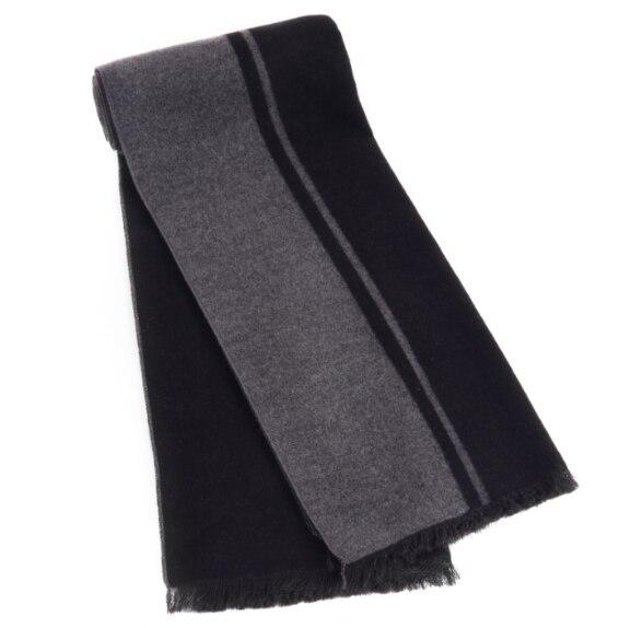 Роскошные Мужчины шарф зима кашемировые шали Дизайнер Бизнес Случайный Bufandas Кистями Черный/Серый цвет Шарфы рождественский подарок