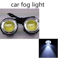 High Quality 2Pcs 12V 30W Angle Eye Auto Car LED Daytime Running Light Waterproof DRL Fog