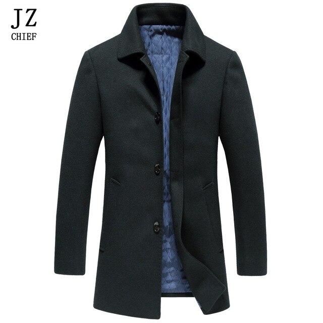 Aliexpress.com : Buy JZ CHIEF Peacoat Tweed Coat Men Winter Coat ...