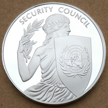 40 мм СБ ООН медаль сувенирная монета ООН
