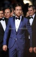 Custom Made Men 3 Piece Suit With Pants One Botton Royal Blue Groomsman Groom Tuxedos Best Man Suit Men Wedding Suits Slim Fit