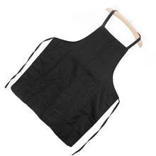 Men Women Waiter Aprons With Pockets for Restaurant Kitchen Cooking Shop Art Work Baker Chef Black Polyester