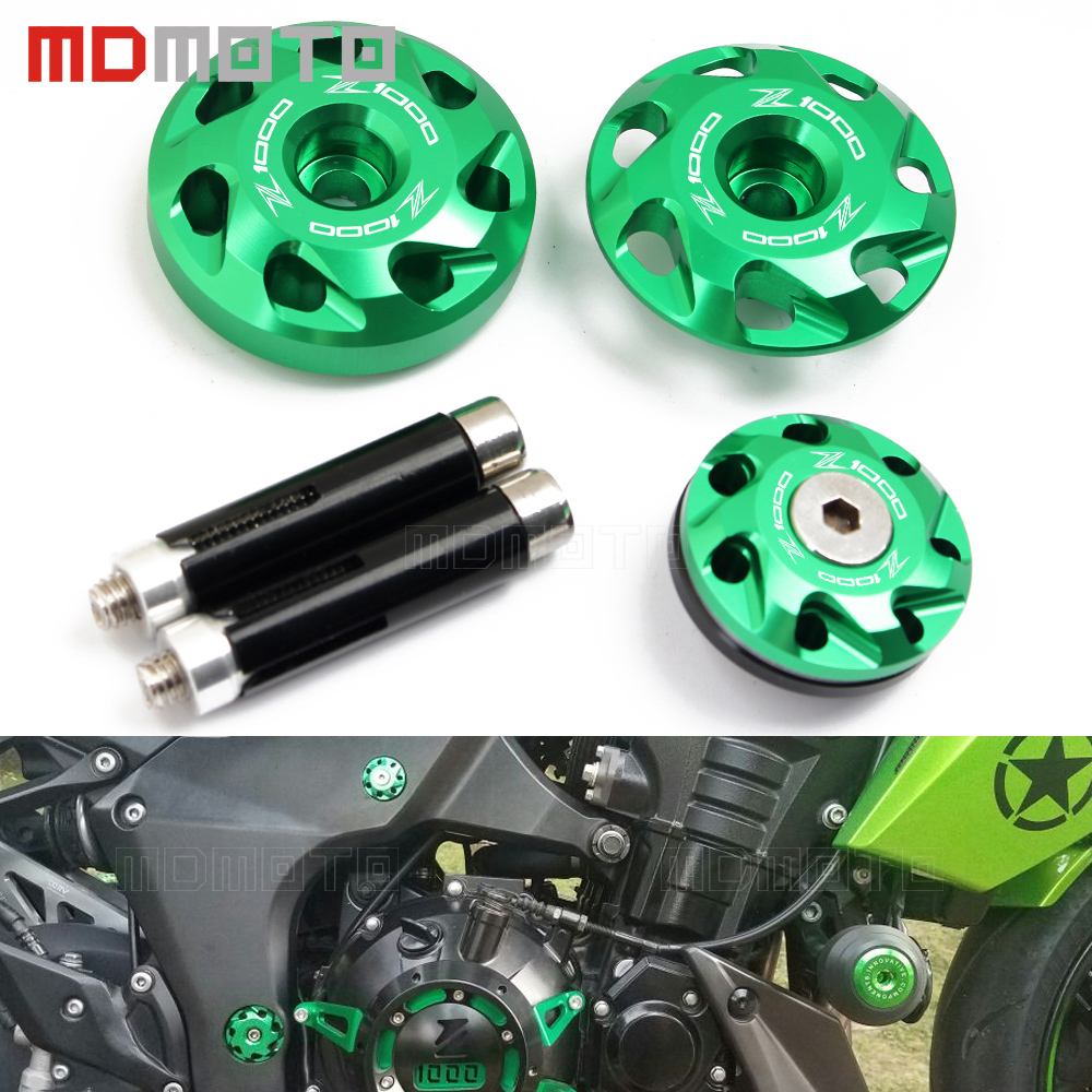 motorcycle accessori stand screws For <font><b>kawasaki</b></font> <font><b>Z1000</b></font> <font><b>2010</b></font> 2011 2012 2013 2014-2017 CNC Aluminum Frame Hole Cover plug protector image