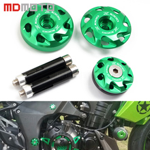 motorcycle accessori stand screws For kawasaki Z1000 2010 2011 2012 2013 2014-2017 CNC Aluminum Frame Hole Cover plug protector