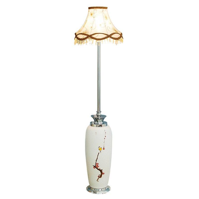 В китайском стиле керамический цветной рисунок Торшеры для фойе ресторана отель декорация зала Классическая стоячая лампа