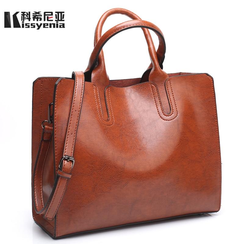 Kissyenia Women Handbag Geniune Leather PU Bags for Women 2018 Casual Shopping Tote Bag Women Top handle Messenger Bags KS1032