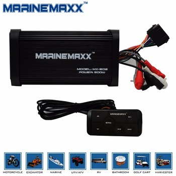 500W 4 Channels Marine Bluetooth Boat Motorcycle Car Amplifier Audio Stereo system 4 Inch 160W Marine Waterproof White Speakers