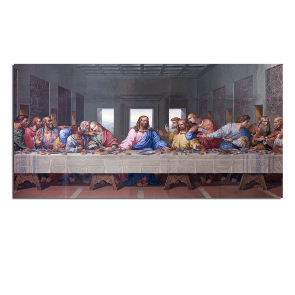 buy the last supper canvas prints paintings on the wall tableau peinture sur. Black Bedroom Furniture Sets. Home Design Ideas