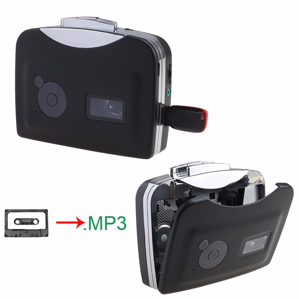 Ezcap 230 USB Cassette Tape Player Walkman Converter Convert To MP3 Into USB Flash Drive Adapter Music Player No Need Driver& PC