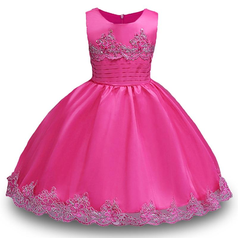 2017 Kids Wedding Summer Party Dresses For Girls Birthday Princess Costume Children Toddler Elegant Vestido Infanty