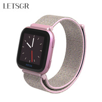 LETSGR Nylon Replacement Strap for Fitbit Versa   Smart   Fitness Watch Wrist Strap Watch Band for Fitbit Versa   Wearable     Accessories