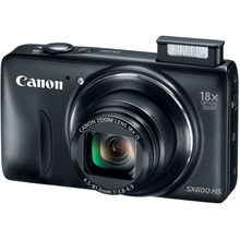 Used,Canon SX600 HS 16MP Digital Camera, travel cam