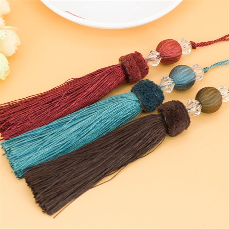 XWL 20Pcs/Lot Beaded Curtain Cord Tassel Fringe Curtain Accessories DIY Sofa Garment Valance Decorative Key Tassel For Sewing
