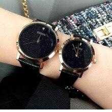 Nueva marca de Moda de Lujo Romántico Relojes estudiantes Reloj de Cuarzo Banda de cuero Genuino Reloj