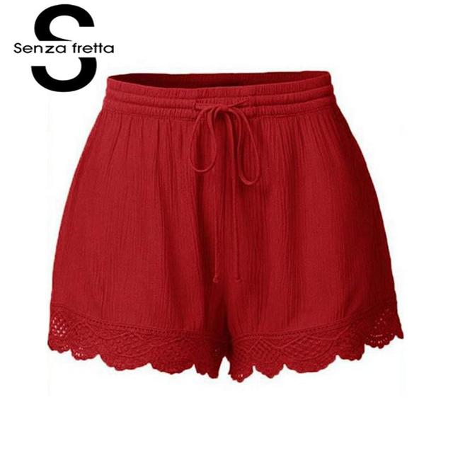Senza Fretta Sexy Shorts For Women Plus Size 5xl Drawstring Short Cloths Femme 2018 Summer Street Fashion Loose Clothing Women