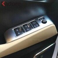 Car Accessories For Toyota Alphard Vellfire 2016 2017 2018 ABS Matte Window Glass Lift Swith Button Cover Door Armrest Trim