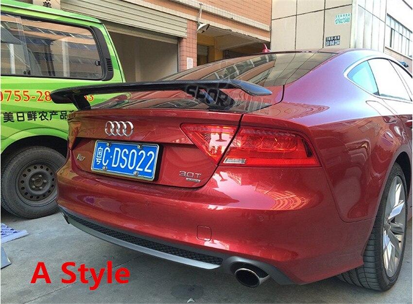 HLONGQT Carbon Fiber Spoiler For Audi A7 S7 RS7 2012.2013.2014.2015.2016.2017 High Quality Car Spoilers Auto Accessories