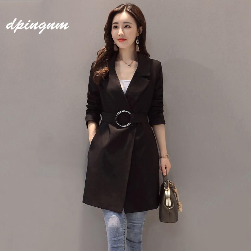 Automne Manteau Classique Femme Couture Imperméable Marque De 2018 Affaires Nouvelle Haute Tranchée Black Vêtements 5qR3L4jA