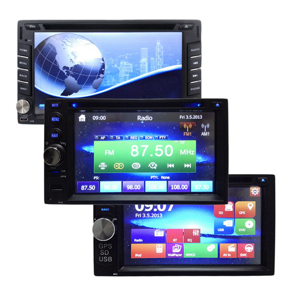 Universal 3 Size Newest Mini UI 7 Inch 1080P 2 Din Car DVD Player Stereo Video GPS Built-in Bluetooth Free Shipping