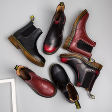 2019 New Winter Boots Male Driving Shoes Men Martin Retro Warm Fur Slip On Ankle Footwear