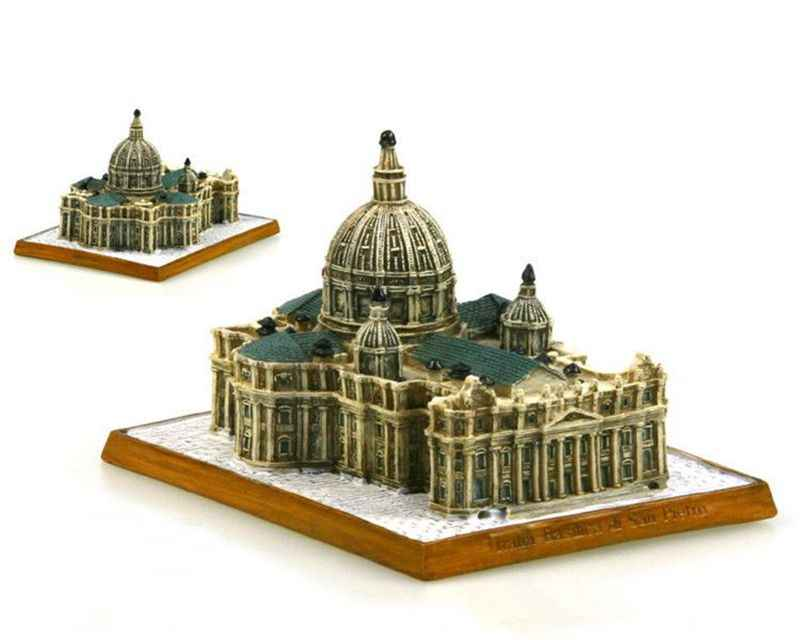 Italy St. Peter's Basilica Creative Resin Crafts World Famous Landmark Model Tourism Souvenir Gifts Collection Home Decor