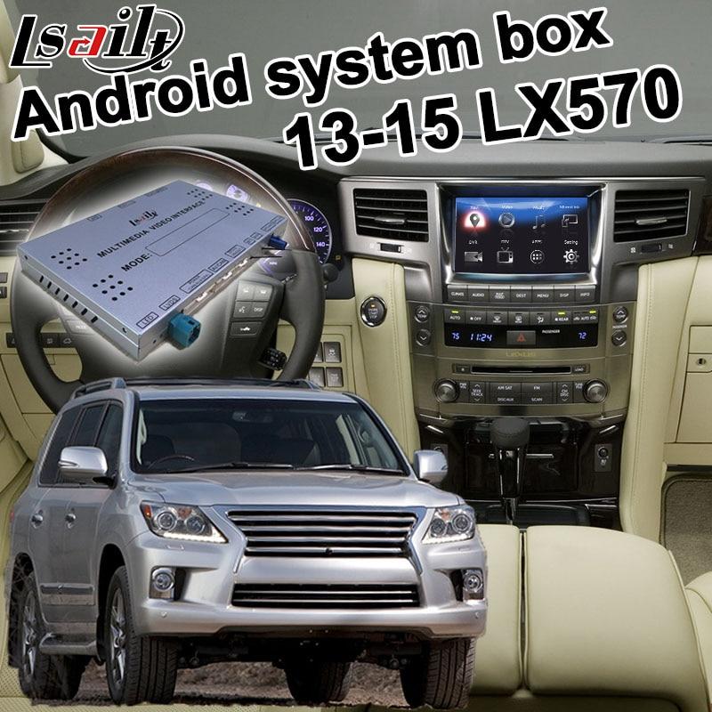 Android GPS Navigation Box For 2013-2015 Lexus LX570 LX Video Interface Box With Carplay GVIF Mirror Link Youtube Waze Yandex