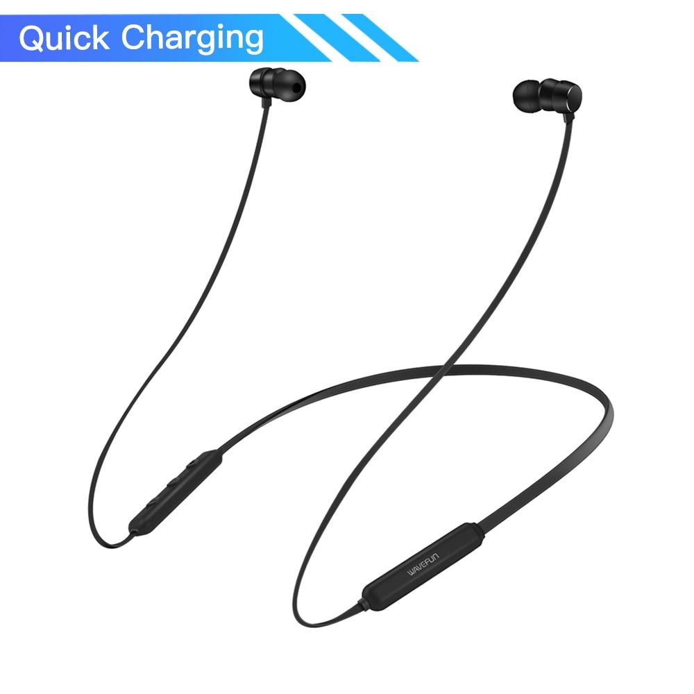 Wavefun Flex Pro快速充电运动颈带入耳式AAC无线耳机蓝牙5.0耳机耳机适用于小米iPhone wavefun xpods 3