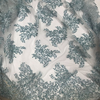 Alibaba express new style French net lace fabric pink Handmade work lace fabric African tulle mesh lace fabric Cara lace HL521