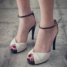 Neue frühling und sommer 2014 Sexy mädchen plus größe vintage weiße weibliche offene spitze hochhackigen sandalen plattform hohe schuhe mit hohen absätzen M126