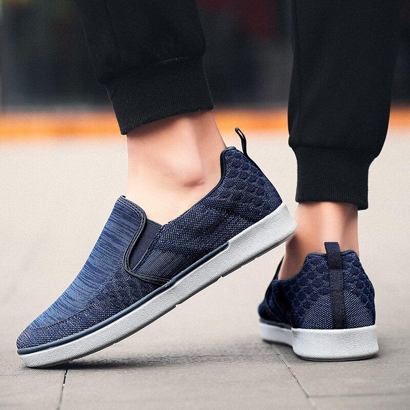 CYYTL Performance Men's Loafers Soft Flyknit Slip-On Walking Shoes Spring Casual Male Sneakers Zapatos de Hombre Erkek Ayakkabi (21)