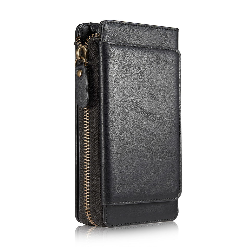 Lady Women Girl PU Leather Flip Retro Zipper Handbag Wallet Purse With Card Slot Phone Case Cover For iPhone 7 4.7inch Phone Bag