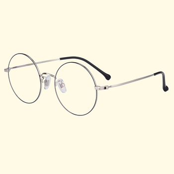 Verres Clairs Ronds | Bellcaca Titane Pur Lunettes De Vue Cadre Femmes Vintage Rond Ordinateur Optique Clair Lentille Lunettes Cadre Femelle BC799