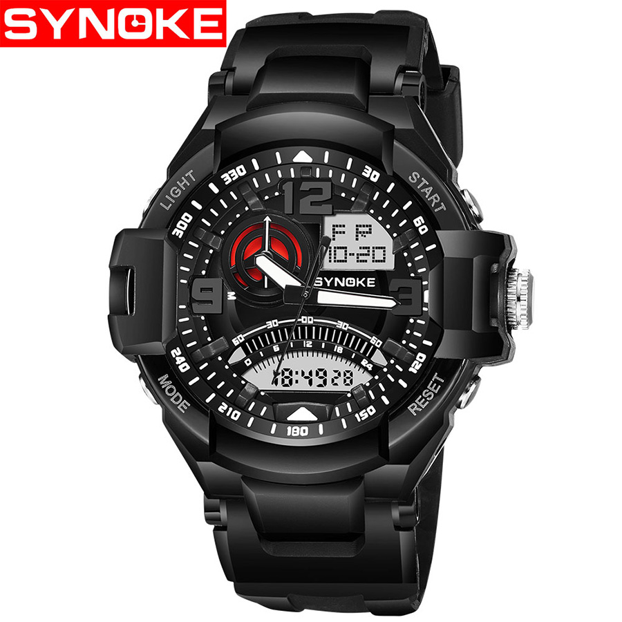 SYNOKE Mens Watches Sport G Style Military Shock Wrist Luxury LED Digital 50M Resistant Waterproof Fashion Wristwatches Relojes alike 2015 50m relojes 14109